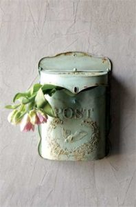 Embossed Tin Letter Box 2