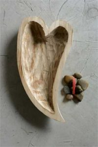 Wood Heart Shape Bowl
